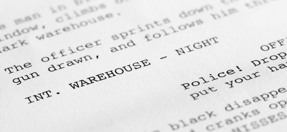 Screenplay close-up 2 (generic film text written by photographer)